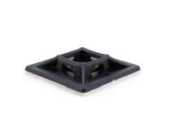 Площадка для кабельных стяжек черная 25х25 (100 шт)