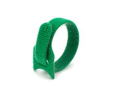 Кабельная стяжка липучка зеленая 12х135 (20 шт)